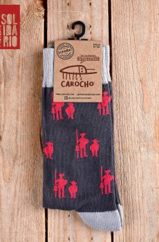 calcetines quijote gris