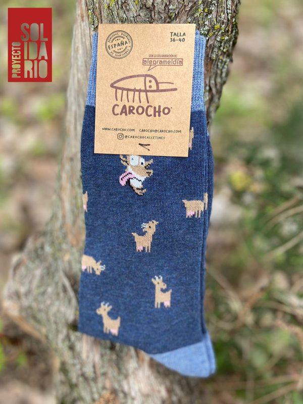 Calcetines Cabra Loca Azul