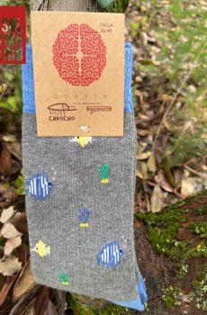 calcetines solidarios peces grises guille